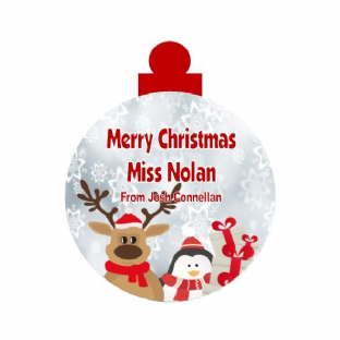 Christmas Theme Teacher Acrylic Christmas Ornament Decoration
